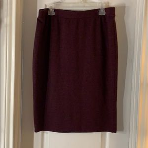 Apt. 9 Maroon Knit Pencil Skirt